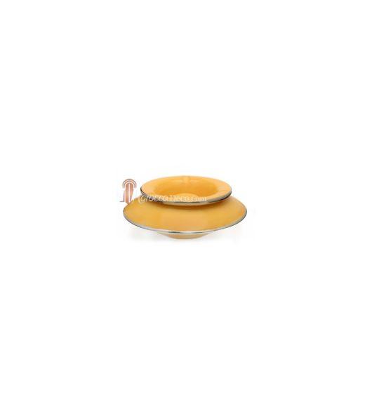 Cendrier marocain tadelakt large jaune