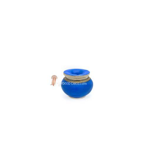 Cendrier marocain tadelakt design bleu turquoise
