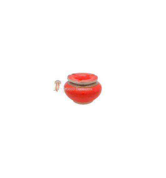 Cendrier marocain tadelakt design rouge