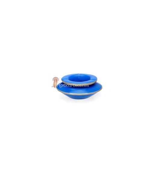 Cendrier marocain tadelakt large bleu