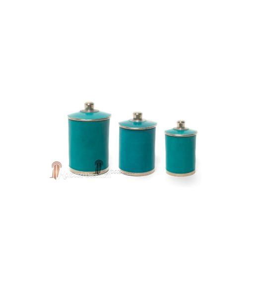Boite tadelakt Chadya turquoise